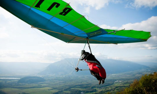 Workout of hang gliding